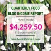 Quarterly Food Blog Income Report: How I made $4,259.50 in Three Months (and a big announcement!)