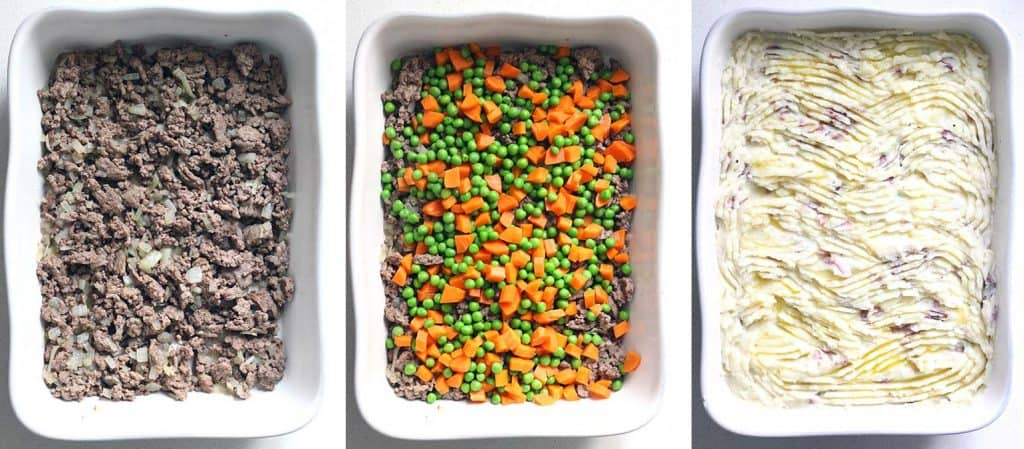 This simple shepherd's pie is easy to make, gluten free, and has only FIVE INGREDIENTS! Perfect for cold nights. Make two and freeze one!