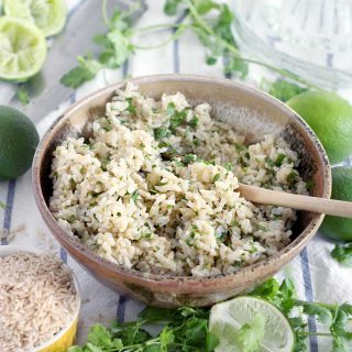 Cilantro Lime Brown Rice (Chipotle copycat!)