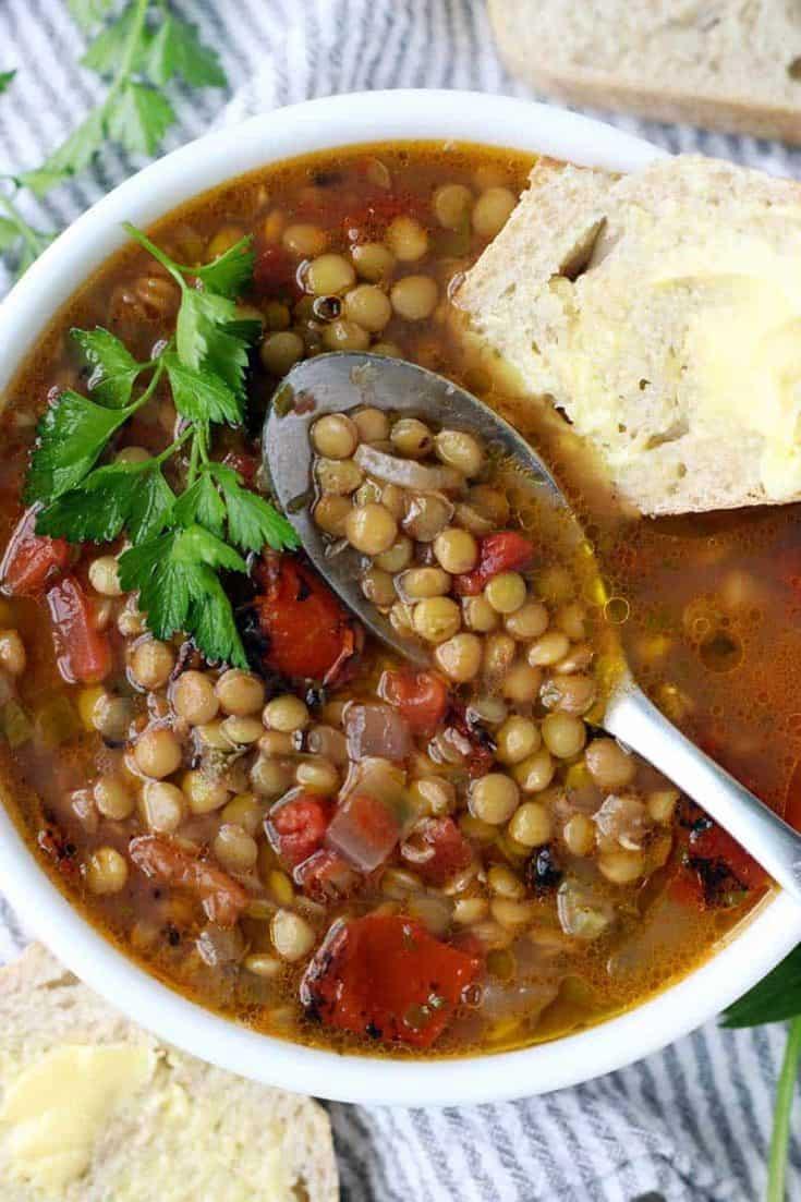 Greek Lentil Soup (Fakes Soupa)
