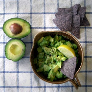 Easy Avocado Salsa | A delicious salsa to use as a dip, sandwich spread, in tacos... made simply with lime juice, hot sauce, olive oil, and salt and pepper.
