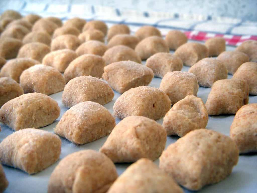 Make a bulk batch of whole wheat ricotta gnocchi and freeze it for up to 16 servings! Makes for quick and easy weeknight meals, topped with your favorite sauce.