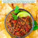 Pinterest image for homemade salsa.