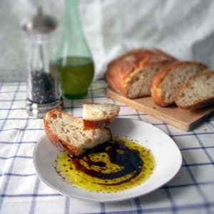 Bring home the best part of an Italian restaurant with this easy, slightly spicy olive oil bread dip.