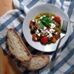 Pesto Gnocchi with Goat Cheese and Cherry Tomatoes