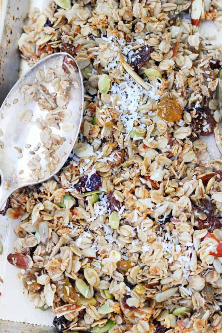 Coconut Granola with Almonds and Cardamom
