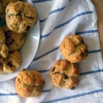 Irish soda bread scones with raisins, orange, and caraway (made with whole wheat flour)