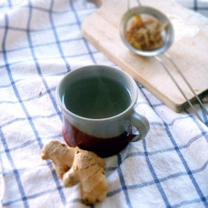 Fresh ginger tea- Add hot water to pieces of fresh ginger