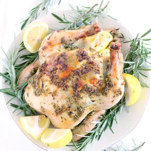Lemon Garlic Rosemary Roast Chicken |The best recipe for roast chicken with the most amazing flavor EVER, plus how to make the perfect roast chicken in a dutch oven and how to make multiple meals from one chicken.