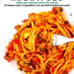 Pinterest image for linguine fra diavolo.