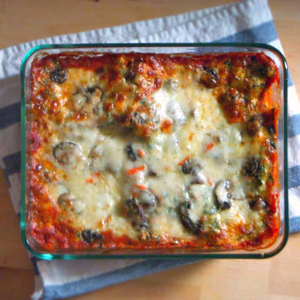 Spinach and Mushroom Vegetarian Lasagna |This vegetarian lasagna will ...