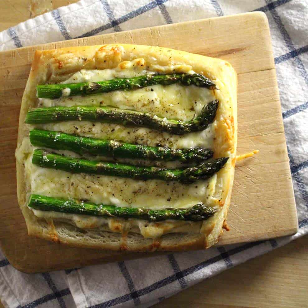 Asparagus Tart with Goat Cheese and Gruyere