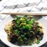 Five Spice Orange Beef with Broccoli | A better than take-out version of beef with broccoli! Made with awesome flavors from orange, five-spice powder, and crushed red pepper for a great spiciness. 100% real and unprocessed!