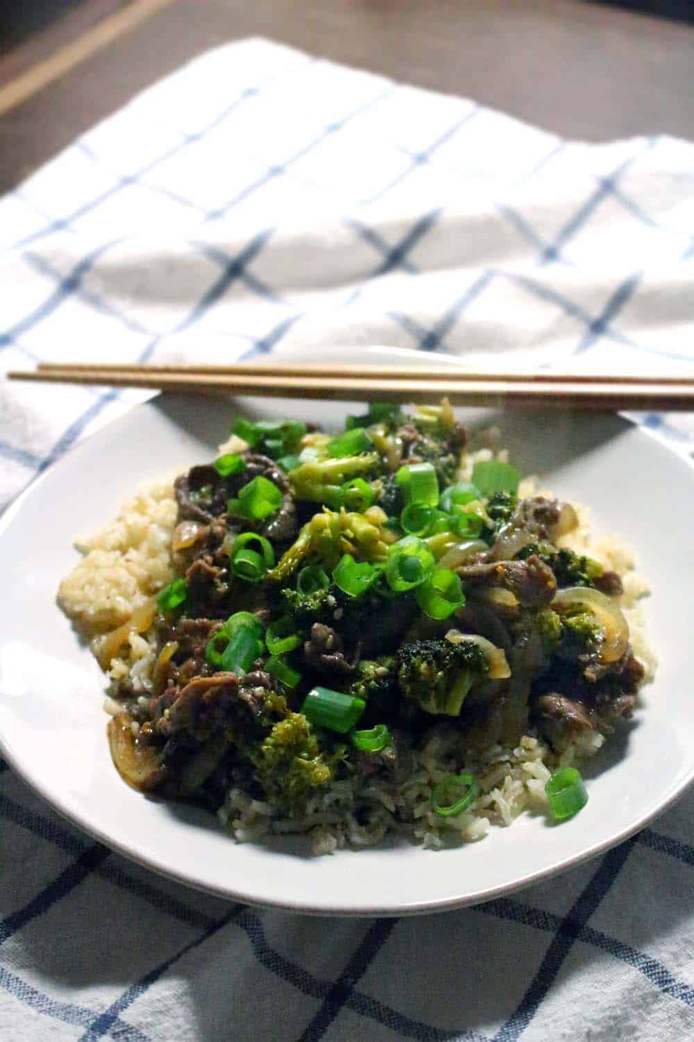 Five-Spice Orange Beef and Broccoli (better than take-out!)