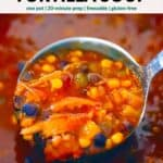 Pinterest image for Smoked Chicken or Turkey Tortilla Soup.