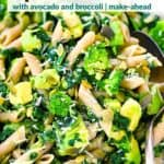 Pinterest image for Green Goddess Pasta Salad.