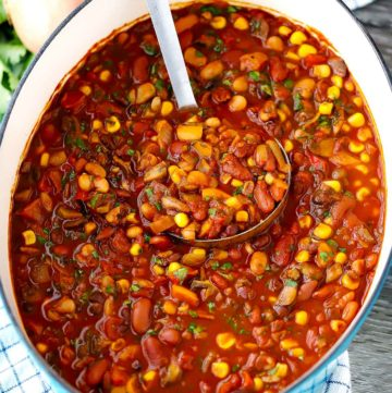 Smoky Vegetarian Chili   Filled with mushrooms and beans, this vegan chili is delicious, filling, and nutrient-packed. But what really makes this chili really stand on its own is the secret spice combination that makes it smoky, velvety, and spicy
