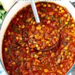 Pinterest image for vegetarian chili