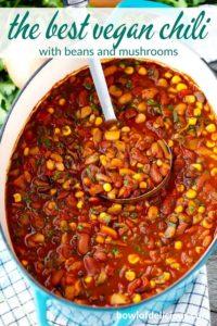 Pinterest image for vegetarian chili