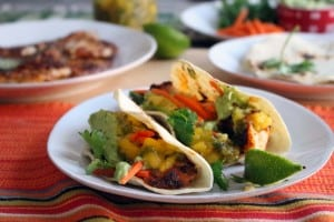 Blackened Fish Tacos with Mango Salsa 2
