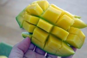 Cut up mango