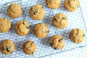 banana blueberry oat muffins 2