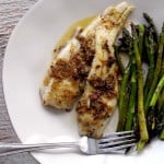 Flounder and asparagus with fresh lemon pepper- the Perfect Summer Meal!