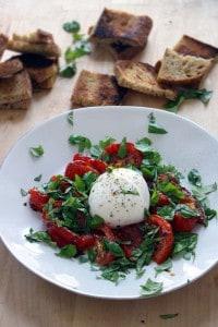 roasted tomato and burrata caprese salad 3