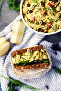 curried chicken salad with apples and raisins 1