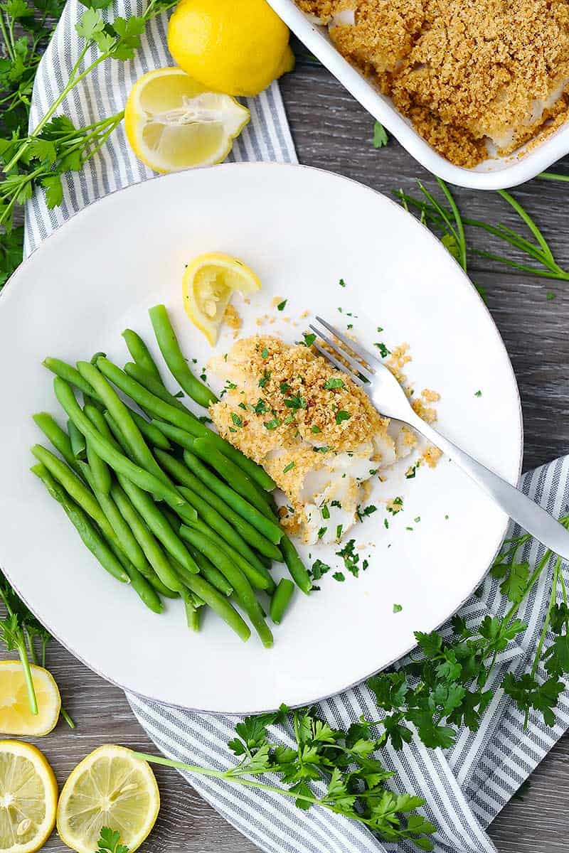 New England baked haddock is one of the most delicious fish dishes you will ever have, yet it is so simple! With only three ingredients and 5 minutes of hands-on time, you will have an elegant, crowd-pleasing meal.