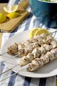 Lemon Chicken Souvlaki and Salad 2