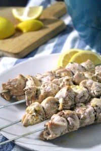 Lemon Chicken Souvlaki and Salad 3