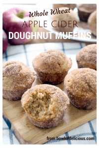 whole wheat apple cider doughnut muffins