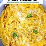 Pinterest image for butternut alfredo.