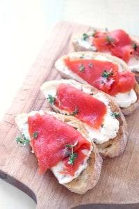 smoked salmon and caper cream cheese toast 1