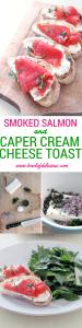smoked salmon and caper cream cheese toast