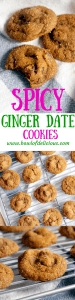 spicy ginger date cookies
