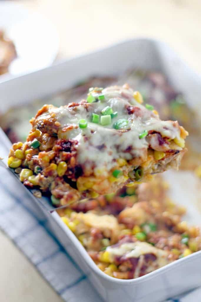 Chicken and Corn Enchilada Casserole 2