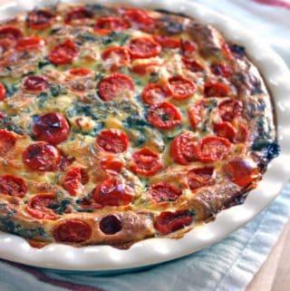 Crustless Spinach, Tomato, and Feta Quiche