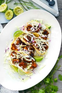 Blackened Shrimp Tacos with Creamy Dill Sauce 1