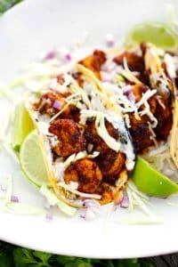 Blackened Shrimp Tacos with Creamy Dill Sauce 2