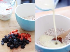 Fluffy Berry Oat Pancakes 1