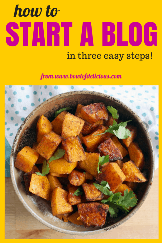 Starting your own food (or other) blog is easy! With this tutorial, you can start your own blog in just three easy steps and about 15 minutes