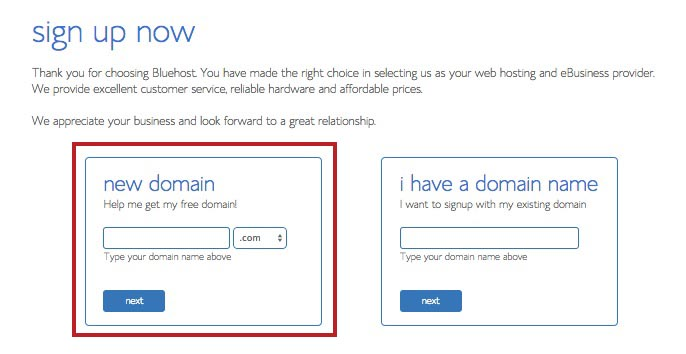 How to register a domain name on bluehost