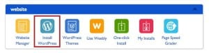 Install WordPress from Bluehost 1