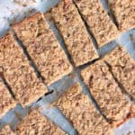peanut butter banana energy bars pinterest image