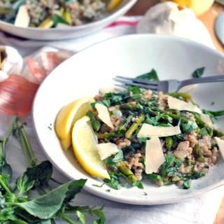 Barley Risotto with Asparagus, Basil, and Lemon