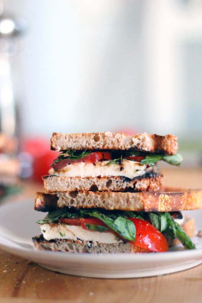 Fresh Mozzarella, Tomato, and Basil Sandwiches with Balsamic Glaze ...