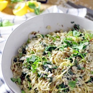 Spaghetti with Browned Butter and Wilted Greens
