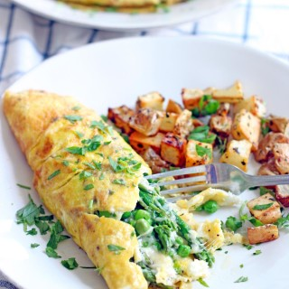 Asparagus, Pea, and Gruyere Spring Omelette